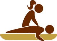 massage therapy treatment icon